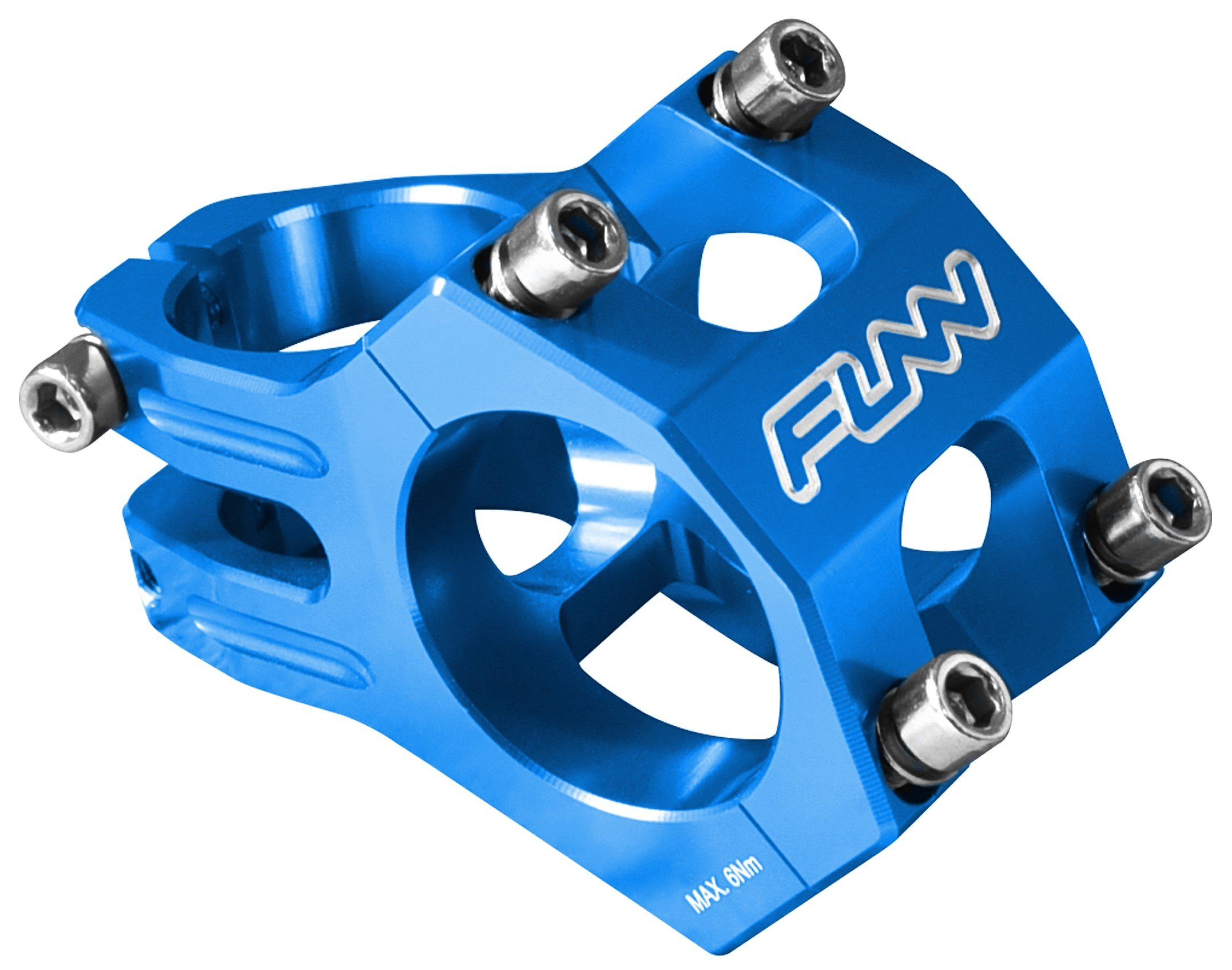Funn Funnduro MTB Stem, Bar Clamp 31.8mm (Length 35mm, Blue) by Funn