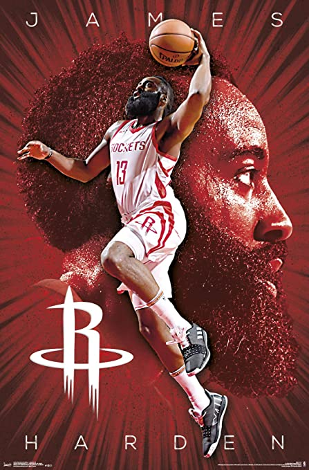 1d6ec0a728fc Image Unavailable. Image not available for. Color  Trends International Houston  Rockets - James Harden Wall Poster ...