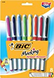 BIC Marking Permanent Marker, Ultra Fine Point, Assorted Colors, 8-Count