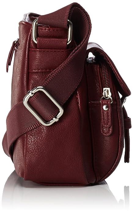 Acc Rina Pu, Womens Handbag, Rot (Wine), 12x19x26.5 cm (wxhxd) Tom Tailor