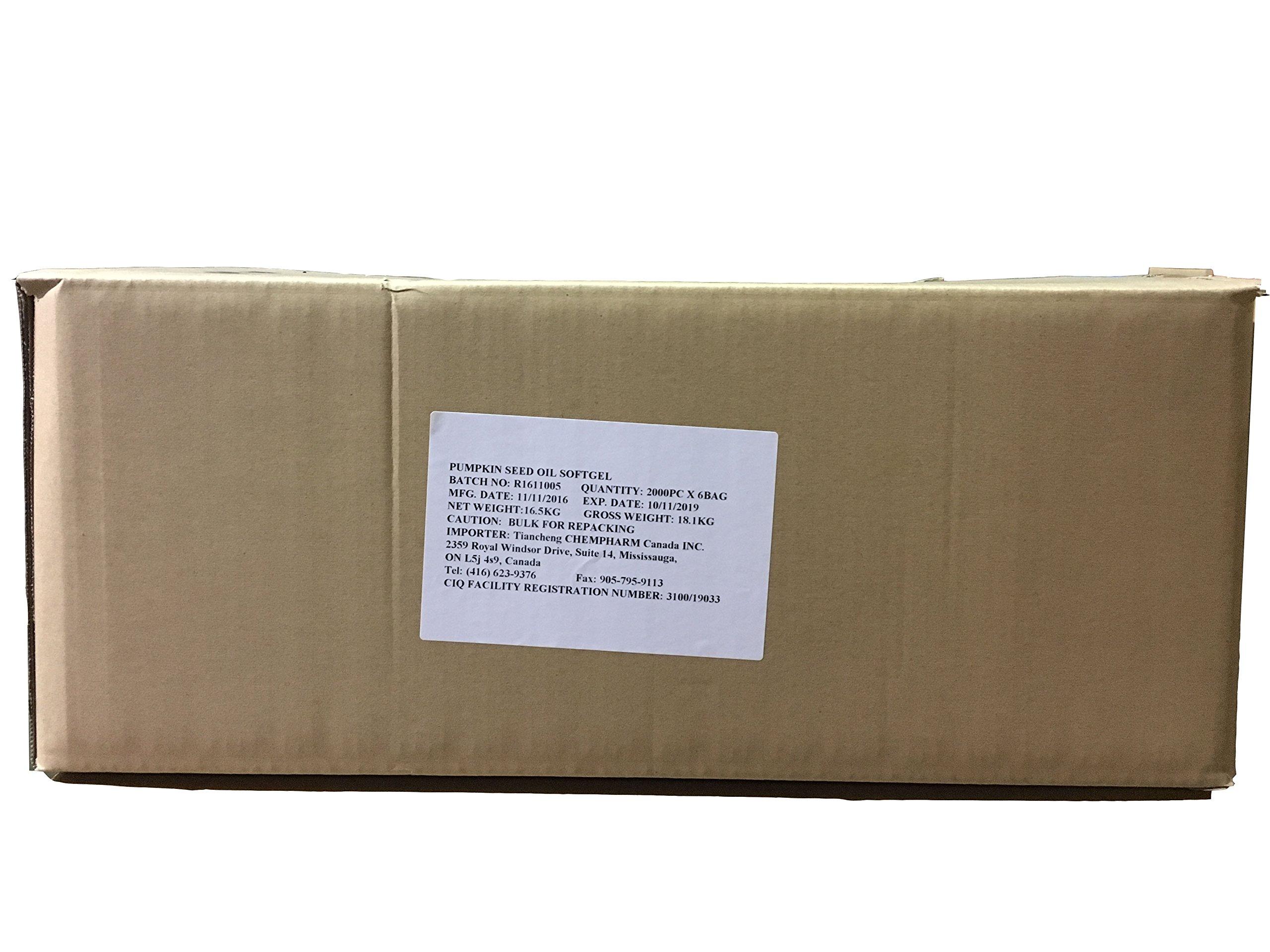 Etherea Pumpkin Seed Oil 1000mg softgel Bulk (12000 Softgels/Box)