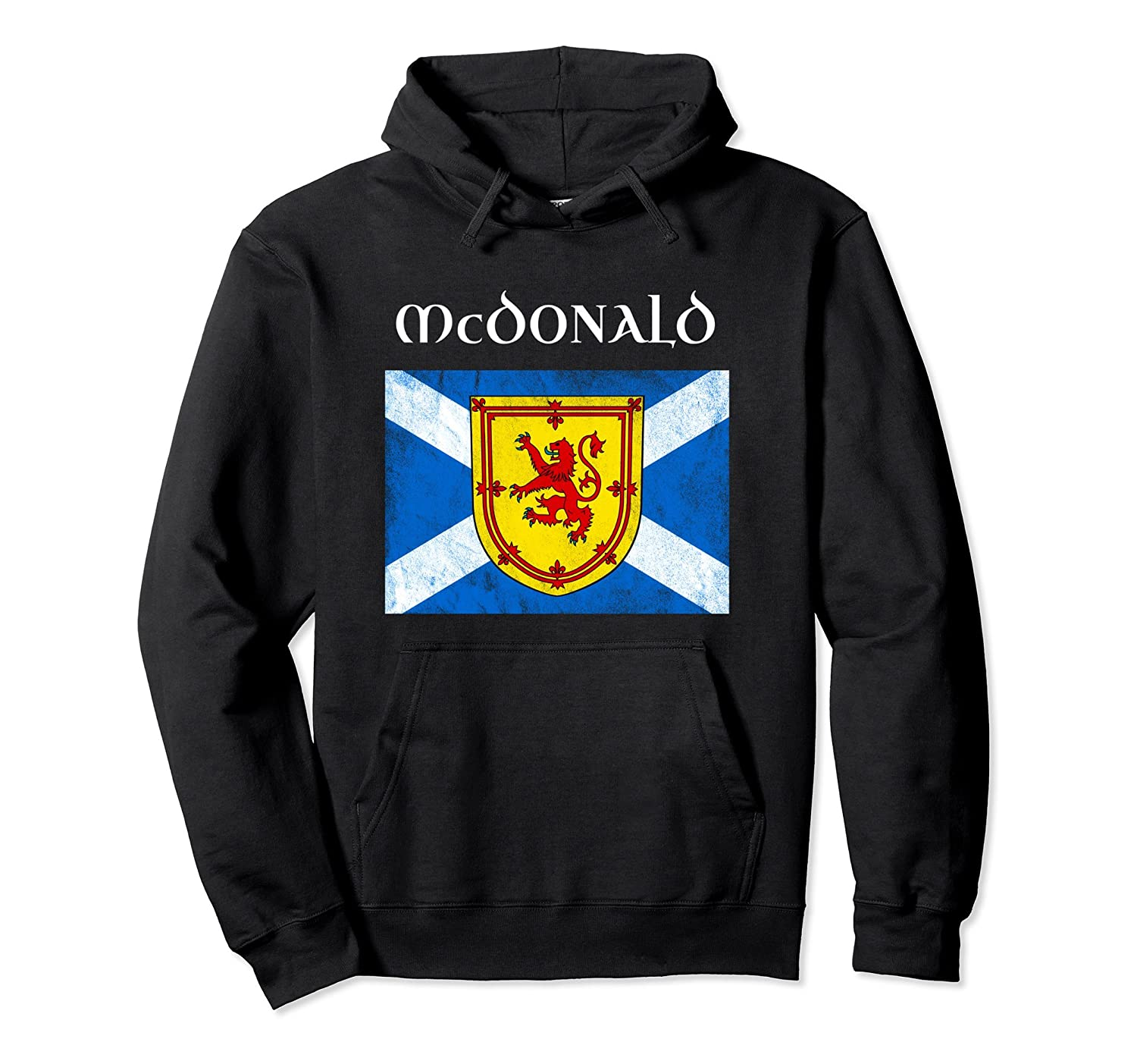 d30ec0c16 McDonald Scottish Name Hoodie Scotland Flag Sweatshirt-alottee gift ...