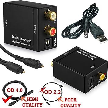 DAC de fibra óptica Digital Toslink Coaxial a analógico ...