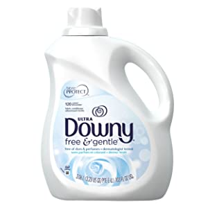 Downy Ultra Free & Gentle Liquid Fabric Conditioner (Fabric Softener), 120 Loads, 103 fl oz (Packaging May Vary)