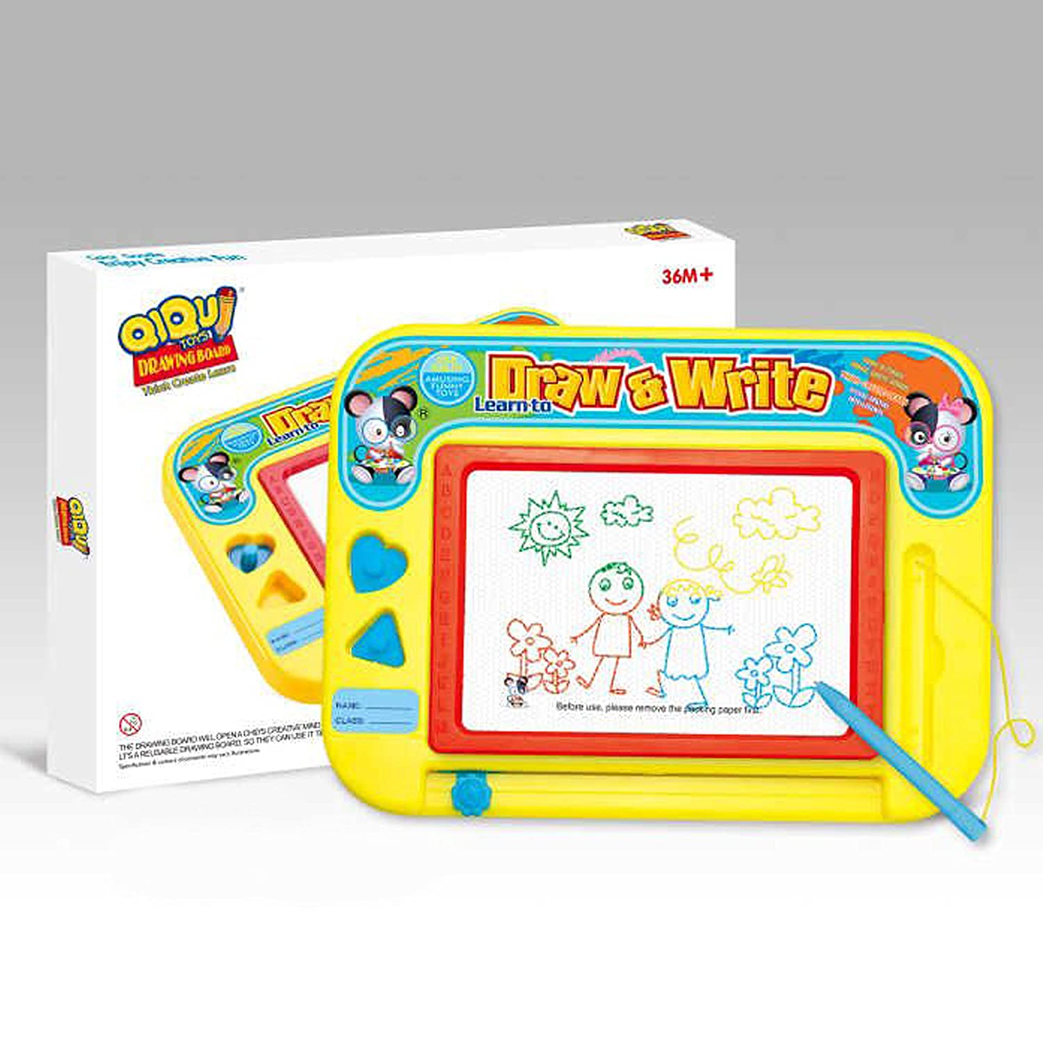 This Magnetic Drawing Board is The Perfect Art Activity for Kids To Develop their Creativity Erasable Colorful Magna Doodle Board /& Pen Best Gift For Boys and Girls The Wonder Company GREAT SKETCH PAD FOR CHILDREN