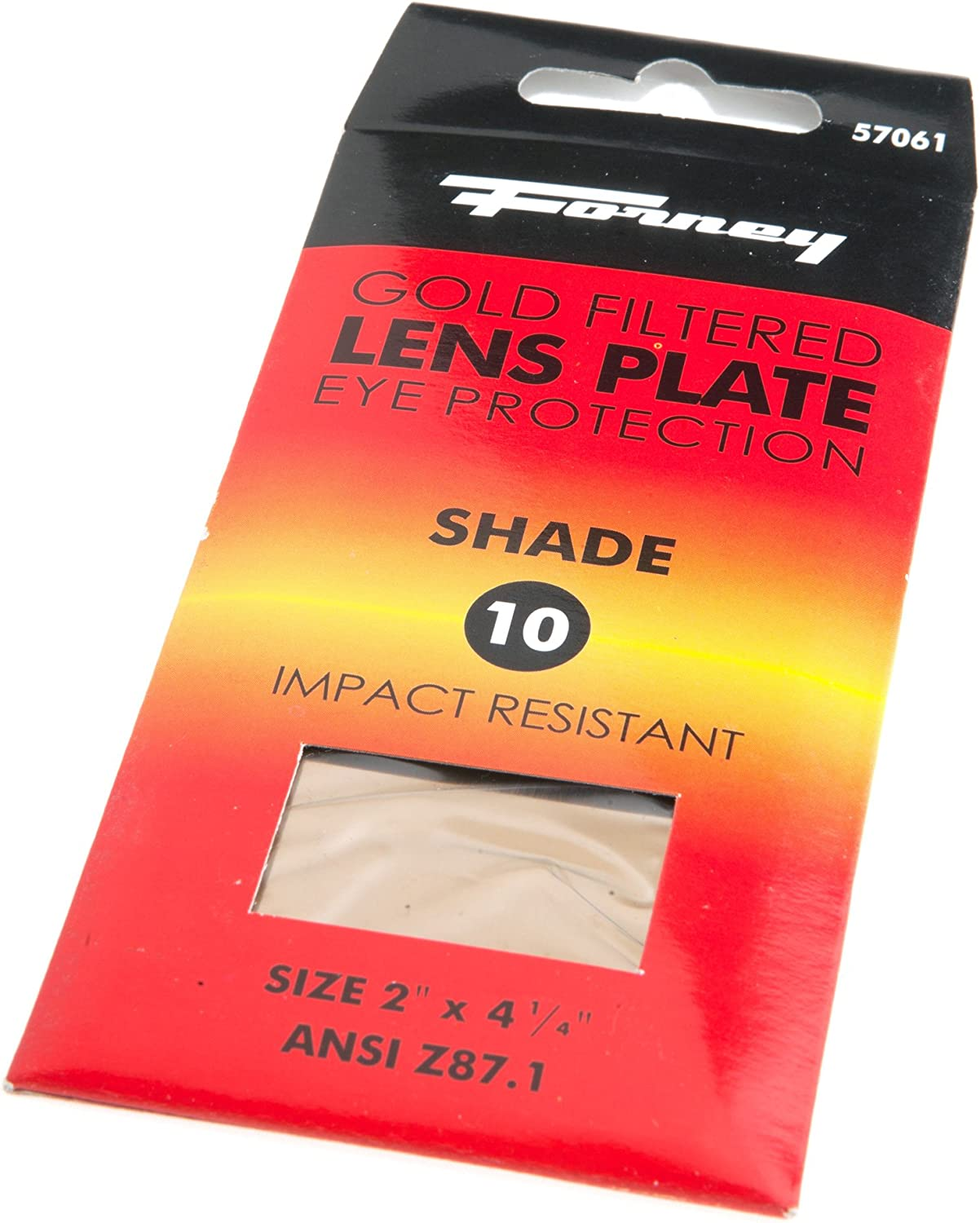 2-Inch-by-4-1//4-Inch Forney 57061 Lens Replacement Gold Welding Filter Shade-10