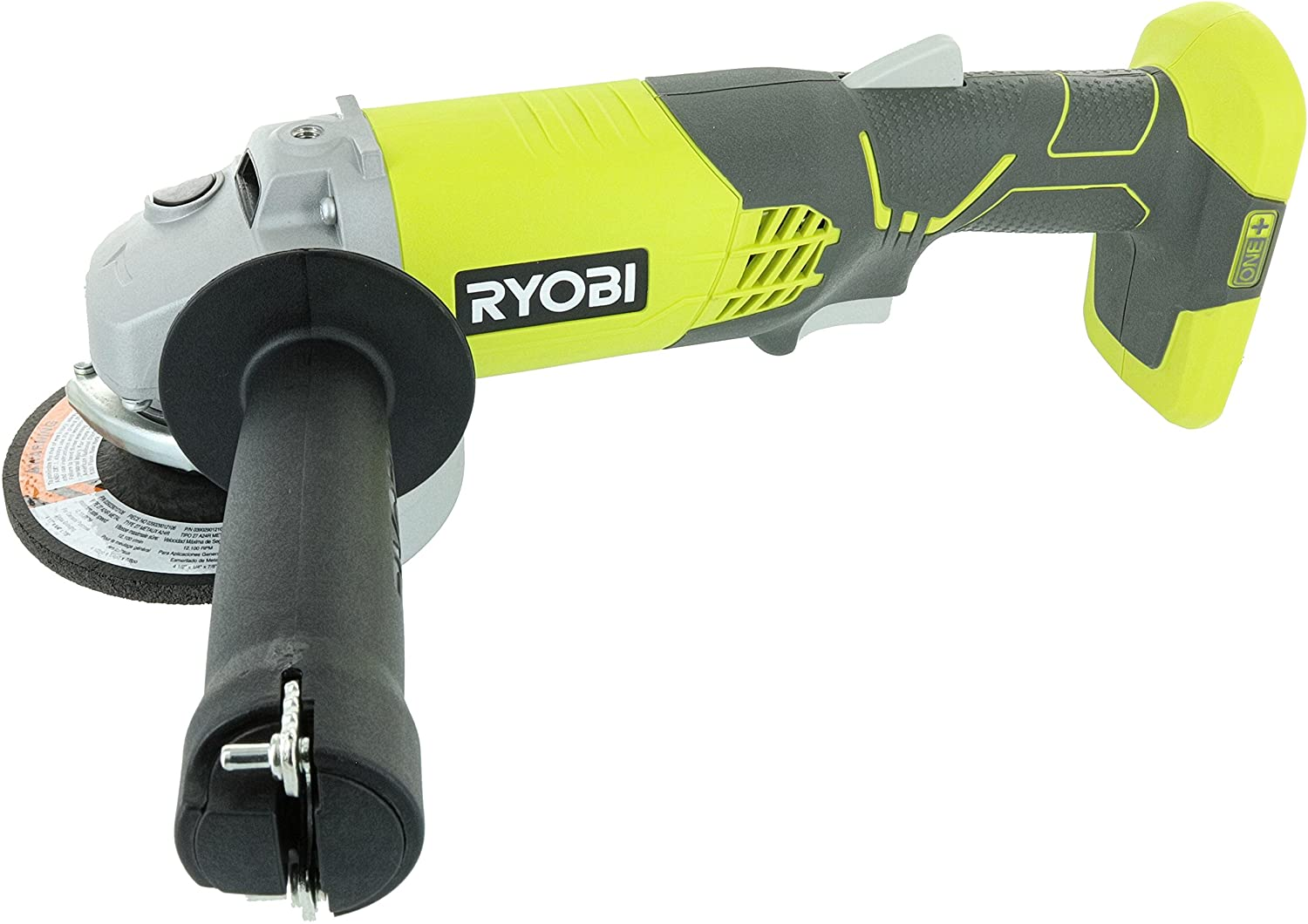 Ryobi P421 6500 RPM 4 1 2 Inch 18-Volt One Lithium Ion-Powered Angle Grinder Battery Not Included, Power Tool Only