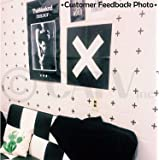 Plus Sign wall pattern vinyl decals nursery decor stickers (Black, 2x2 set of 80)