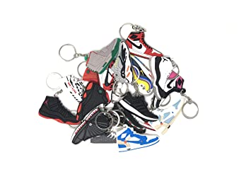 Amazon.com: xxiii - Retro Shoe Rubber Sneaker Keychains ...