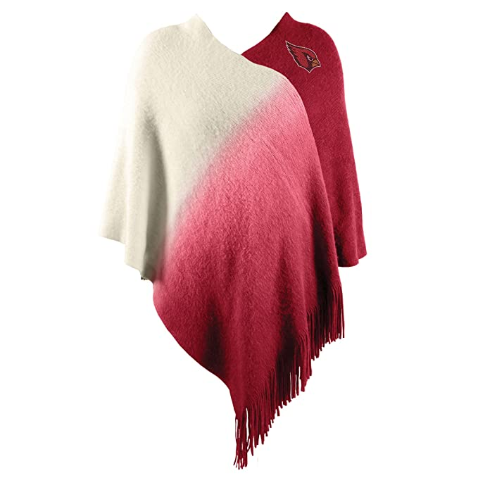 63bc7cfc Littlearth NFL Washington Redskins Womens Nflnfl Dip Dye Poncho, Maroon,  One Size Fits Most