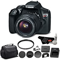 Canon EOS Rebel T6 Digital SLR Camera Bundle with EF-S 18-55mm f/3.5-5.6 is II Lens with UV Filter + Carrying Case