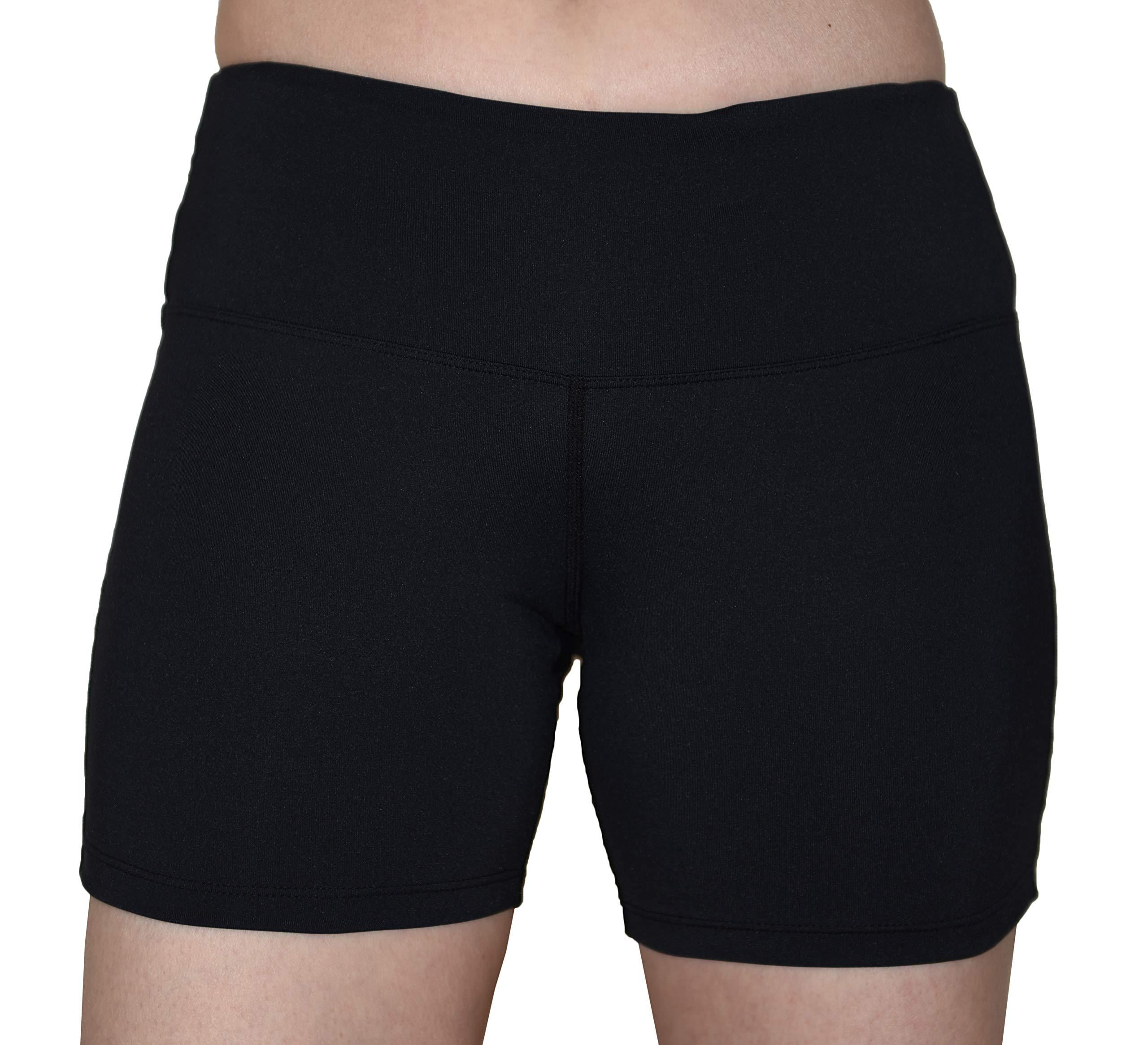 Private Island Women UV Swim Rash Guard Pockets Shorts Pants Yoga (XXL, Black) by Private Island