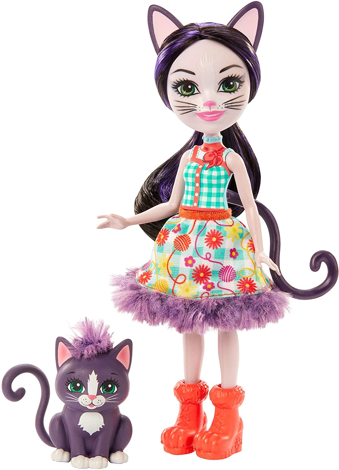 Enchantimals- Ciesta Cat con Mascota Climber, Muñeca, Multicolor (Mattel GJX40)