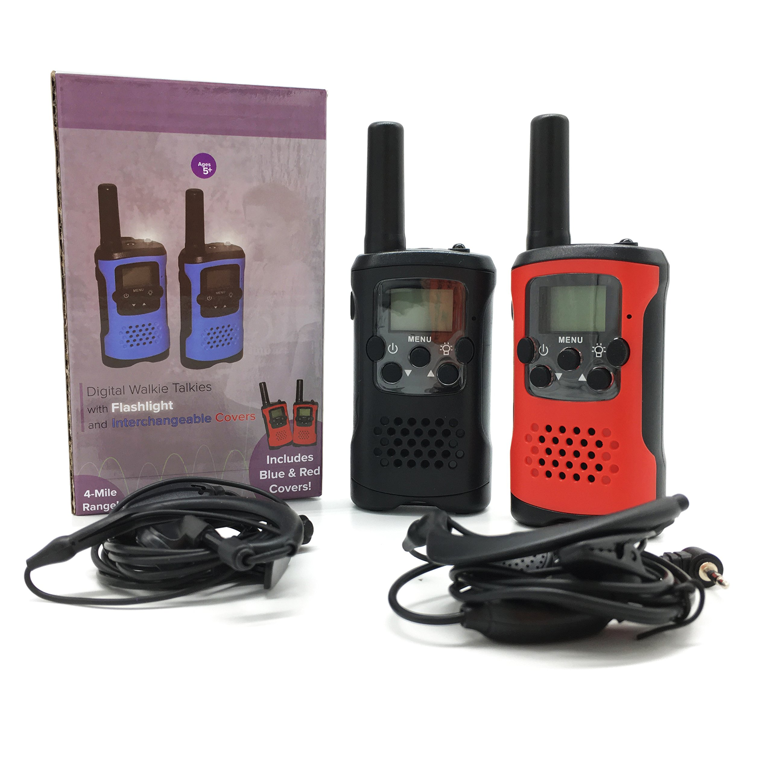 AMENON 2 Pack Walkie Talkies for Kids 22 Channel 2 Way Radio 3 Miles Long (Up to 5Miles) FRS/GMRS Handheld Mini Radio Toy for Boys Girls Outdoor Camping Hiking Birthday Christmas by AMENON (Image #7)
