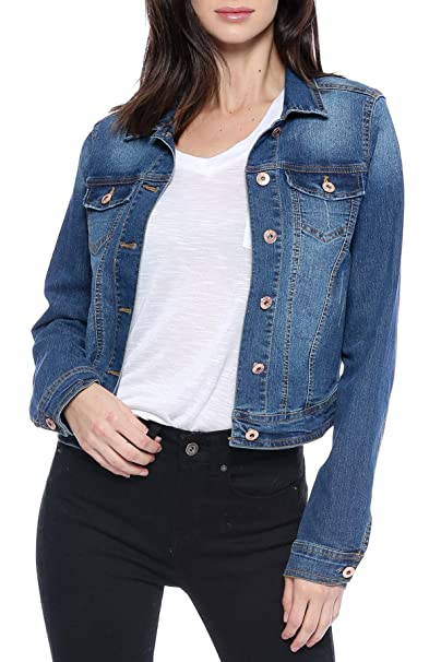 Amazon.com: Urban Look - Chaqueta vaquera para mujer: Clothing