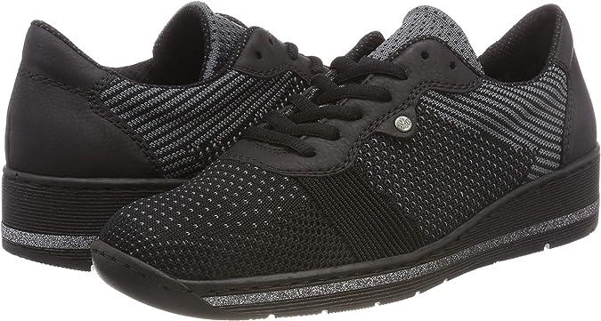 Rieker 589p4, Sneakers Basses Femme: Chaussures et Sacs