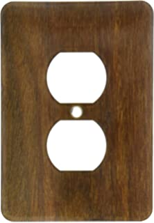3dRose lsp/_41602/_6 Hickory Chesnut Wood 2 Plug Outlet Cover