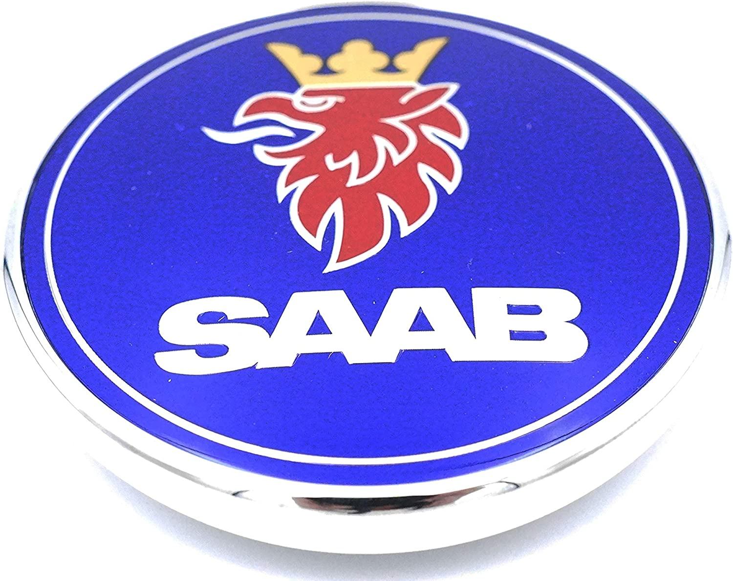 GENUINE SAAB FRONT BONNET EMBLEM BADGE 9-3 /& 9-5 NEW 12844161