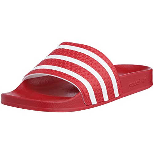 9544db002a3e adidas Adilette Unisex Slide Red White - 9 UK