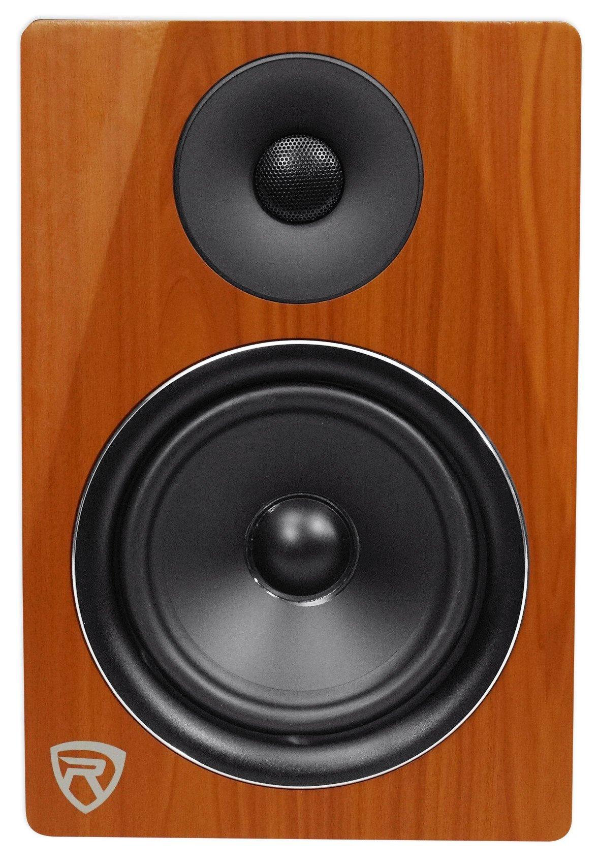 Rockville DPM6C 6.5'' 2-Way 210W Wood Active/Powered Studio Monitor Speaker