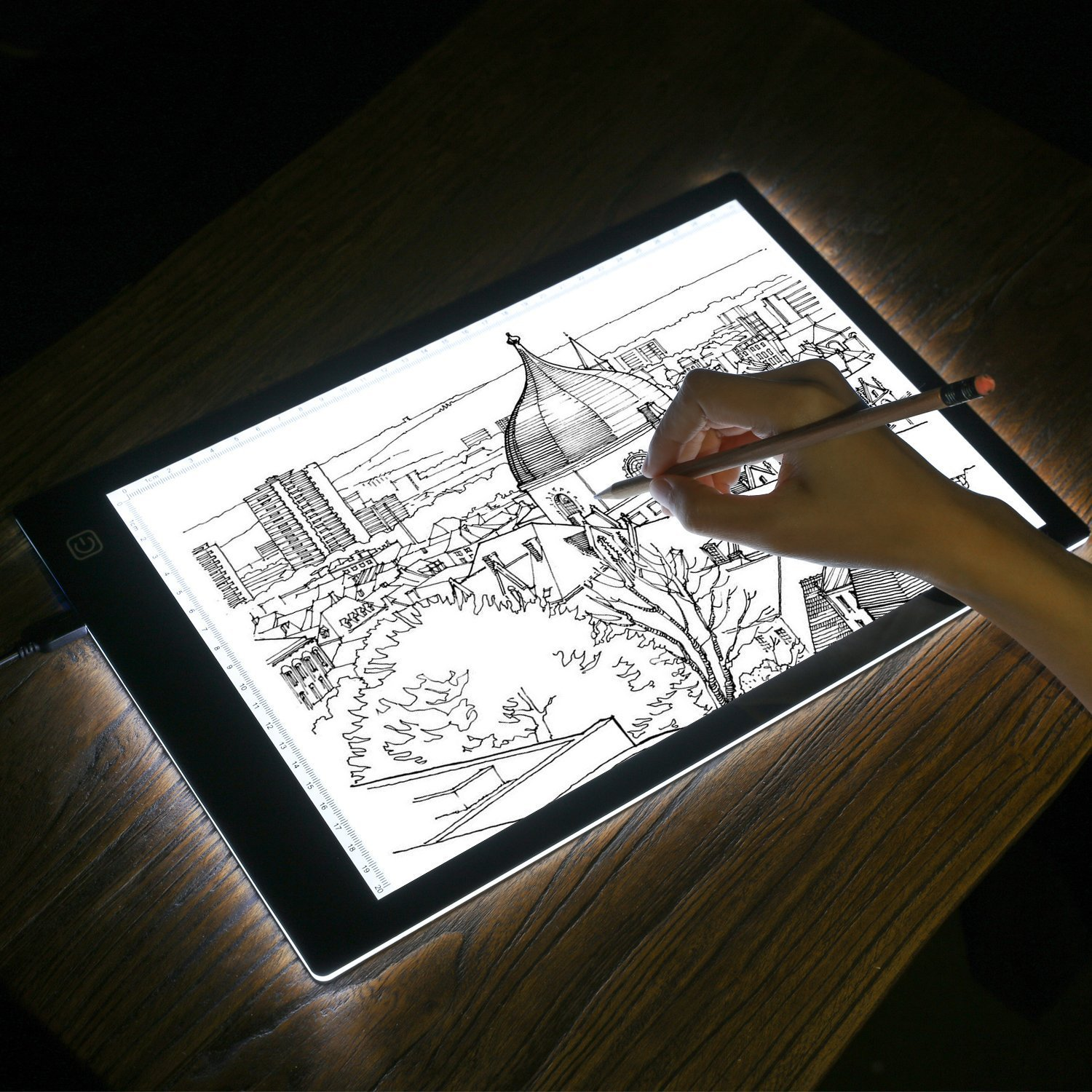 A4 Ultra-Thin Portable Dimmable LED Light Box Tracer USB Power Cable Brightness LED Artcraft Tracing Light Pad for Artists Drawing Sketching Animation Stencilling X-rayViewing