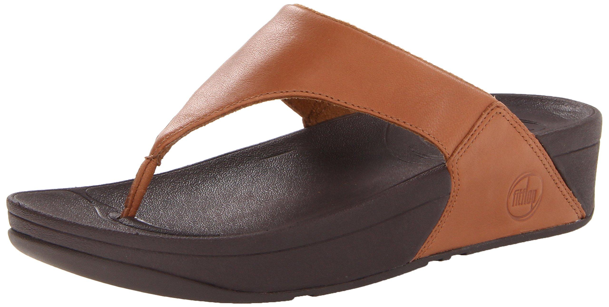 FitFlop Women's Lulu Thong Sandal,Toffee Tan,11 M US