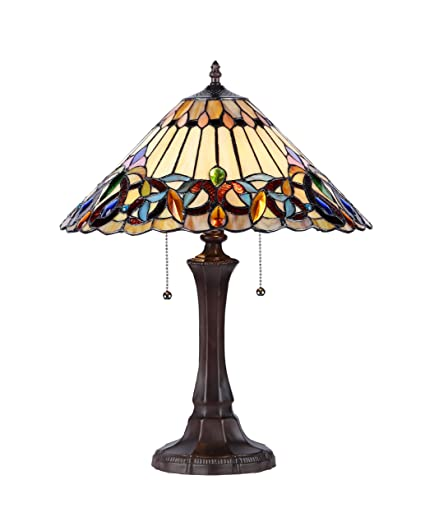 chloe lighting ch33318vi16 tl2 ambrose tiffany style victorian 2 light table lamp