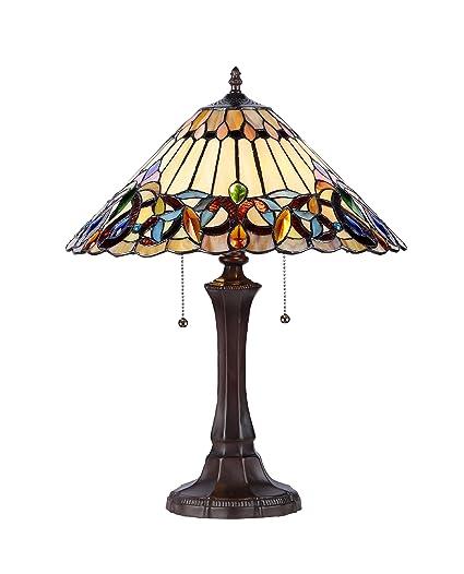 chloe lighting ch33318vi16 tl2 ambrose tiffany style victorian 2 light table lamp