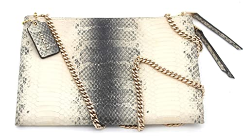 53984b71ff6f Image Unavailable. Image not available for. Color  Coach Zip Top Embossed  Exotic Snake Print Shoulder Bag