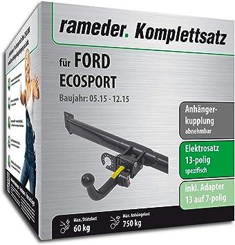 Rameder Komplettsatz Anh/ängerkupplung abnehmbar 156443-11479-2 13pol Elektrik f/ür Ford ECOSPORT