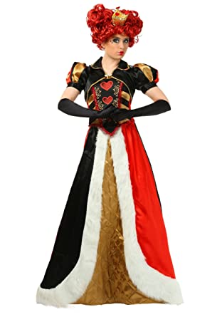 9084cb09f0 Amazon.com  Plus Size Elite Queen of Hearts Costume 2X Red  Clothing