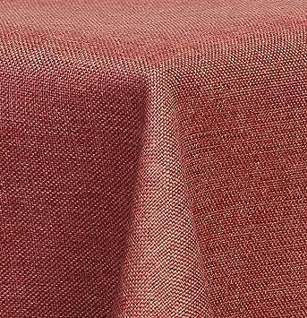 Textil Tischdecke Leinen Optik Wasserabweisend Rund 140 Cm