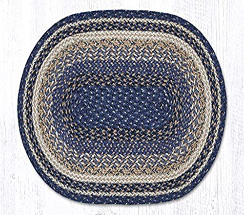 Earth Rugs C-9-97 Deep Blue 20×30 Oval Braided Rug, 20 x30