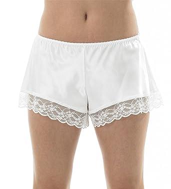 5c832b305d636 Marlon Ladies Satin Lace French Knickers Ivory - Size 10-24  Amazon.co.uk   Clothing