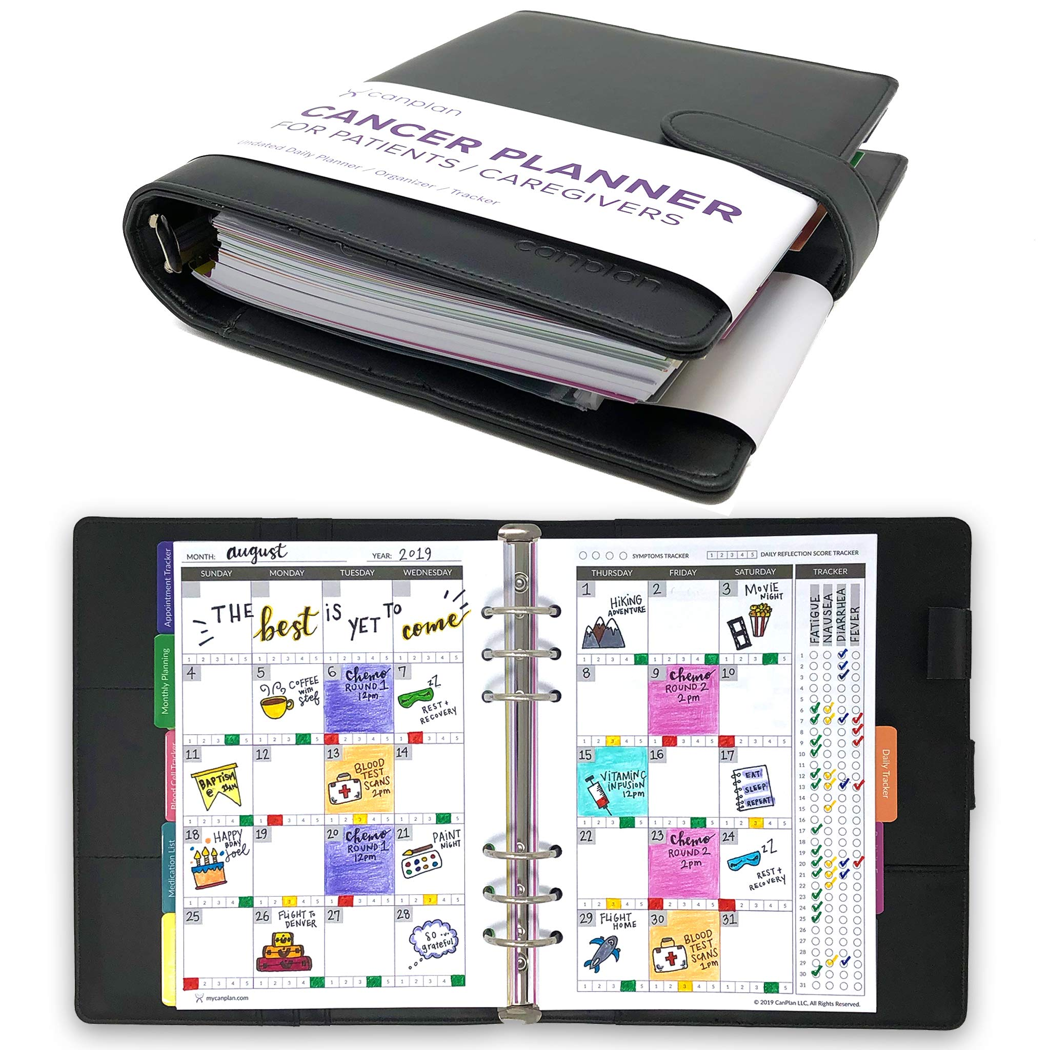 CanPlan Cancer Planner - The Only Planner Made to Help You Fight Cancer Day by Day, Undated Daily Organizer, Best Cancer Gift by CanPlan (Image #1)