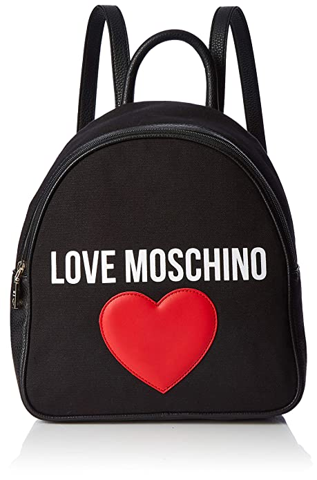 Spalla nero Moschino Pu Pebble Borsa Donna E Canvas Love qZ8YBvOO