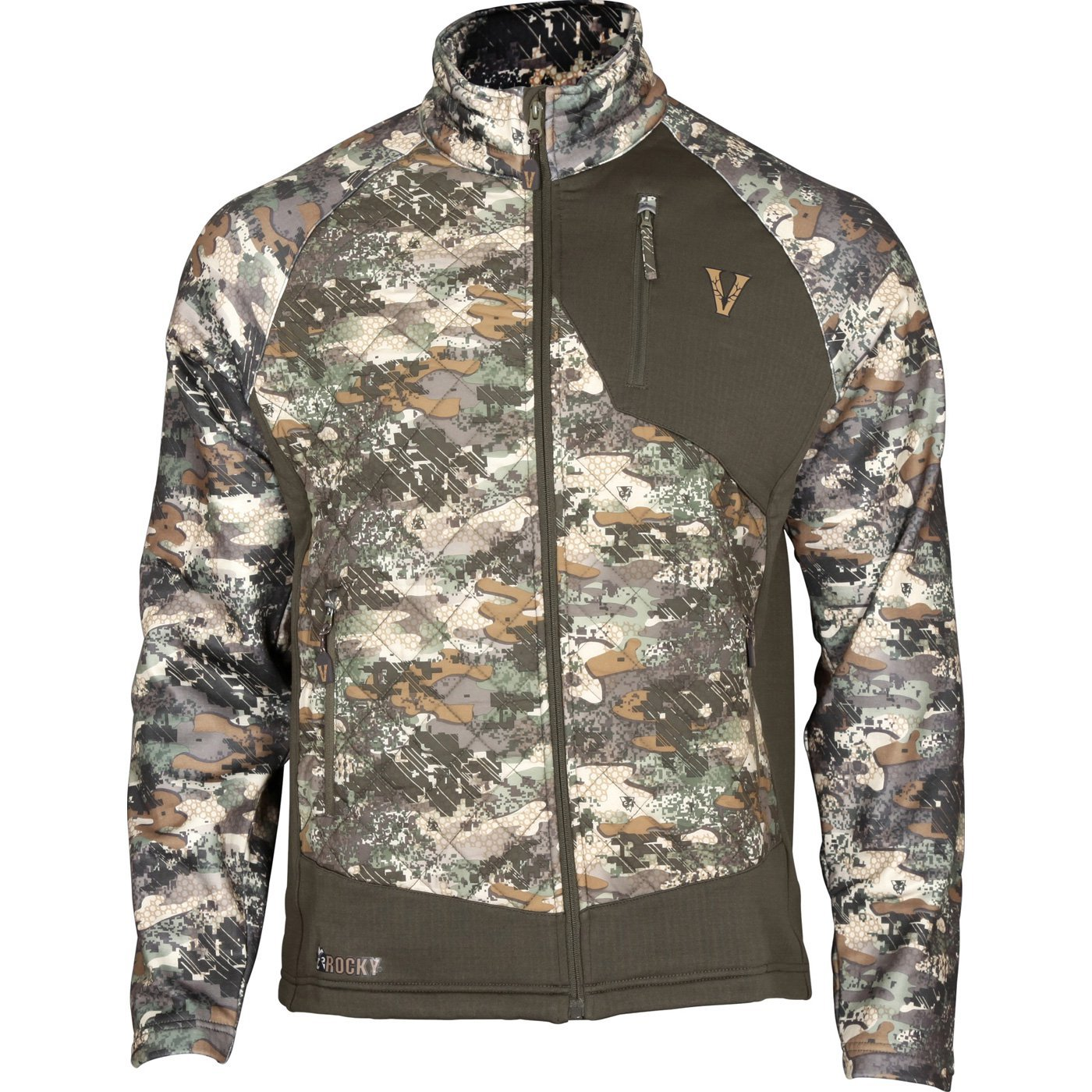 Rocky Men's Venator 80G Insulated Hybrid Jacket, Camouflage, X-Large
