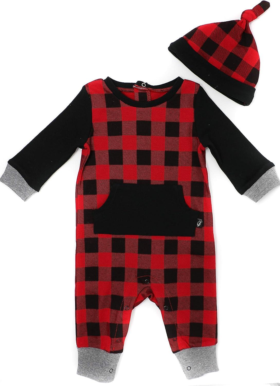 Mini Heroes Babys 2-Piece Romper with Hat