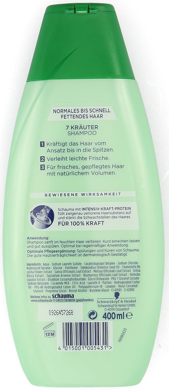 Schwarzkopf Schauma 7 Kräuter Shampoo 4er Pack 4 X 400 Ml Amazon