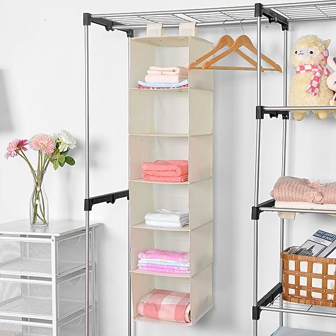 Amazon.com: MaidMAX - Estante para colgar en el armario, 6 ...