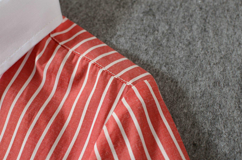 Yuanlu Boys Long Sleeve Pink Shirt Pink-Long-Shirt