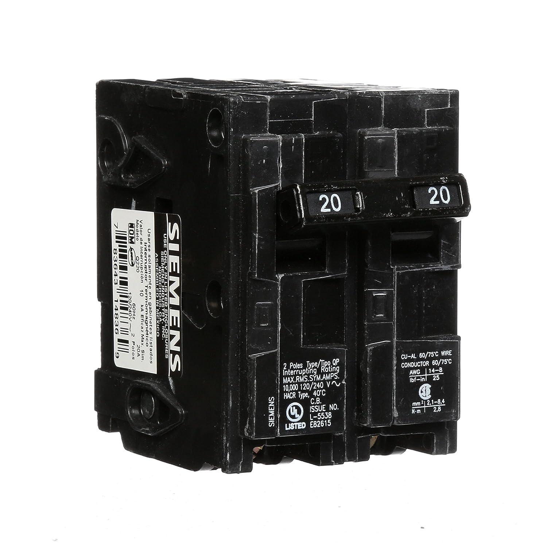 Q220 20-Amp Double Pole Type QP Circuit Breaker - - Amazon.com