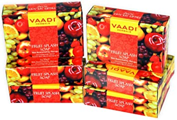 Vaadi Herbals Exotic Flavors Luxurious Handmade Herbals Soaps 75gm Health & Beauty pack Of 6