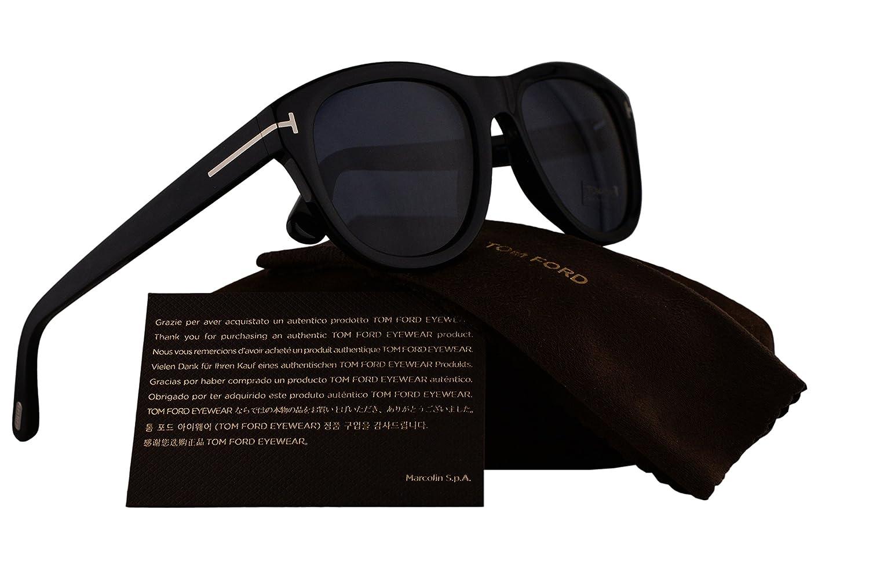 0511690be9731 Amazon.com  Tom Ford FT0520 Benedict Sunglasses Shiny Black w Blue Lens 01V  TF520  Sports   Outdoors