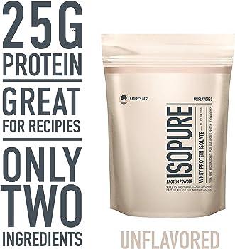 Isopure Keto Friendly Unflavored Protein Powder 1 Pound