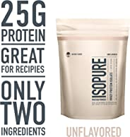 Isopure Zero Carb, Keto Friendly Protein Powder, 100% Whey Protein Isolate, Unflavored, 1 Pound