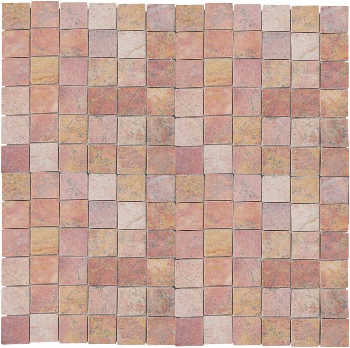 marbre quadratins 11 pi/èces /à 30x30cm = 1m/² ~ Terre Cuite Mendler Carrelage Vigo T688 Pierre Naturelle mosaique