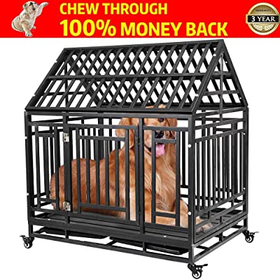 Haige Pet Your Pet Nanny Heavy Duty Dog Crate Cage Kennel Playpen Large Strong Metal