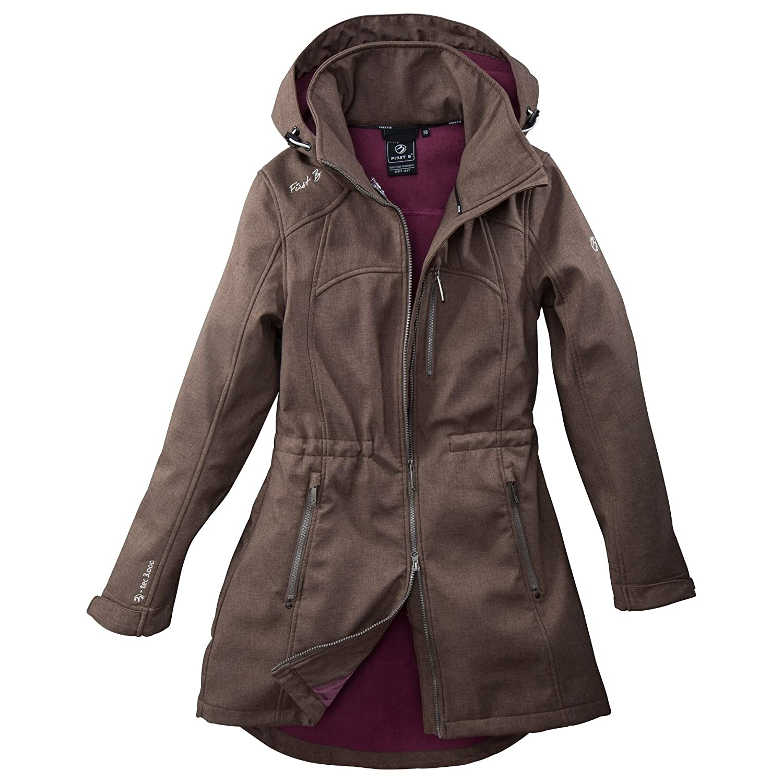 Damen Softshell Jacke Übergangsjacke gefüttert modern Mantel First B