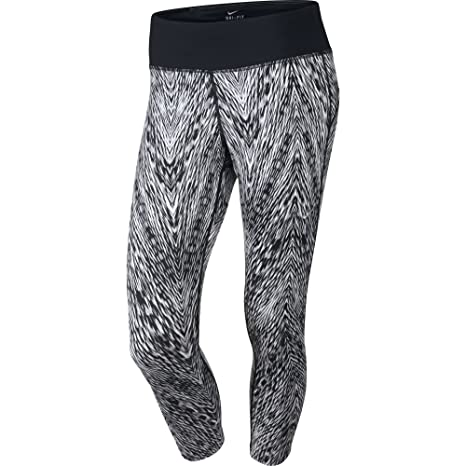7701ca1812 Amazon.com : Nike Women's Epic Run Printed Cropped Running Tights ...